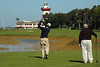 Tim on # 18 at Harbour Town Golf Course
