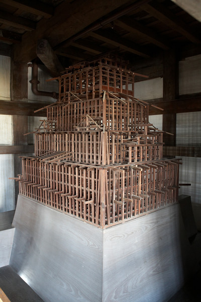 This is a model of all the supporting beams inside the keep.
