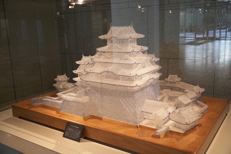 One of the models of Himeji Castle at the museum.