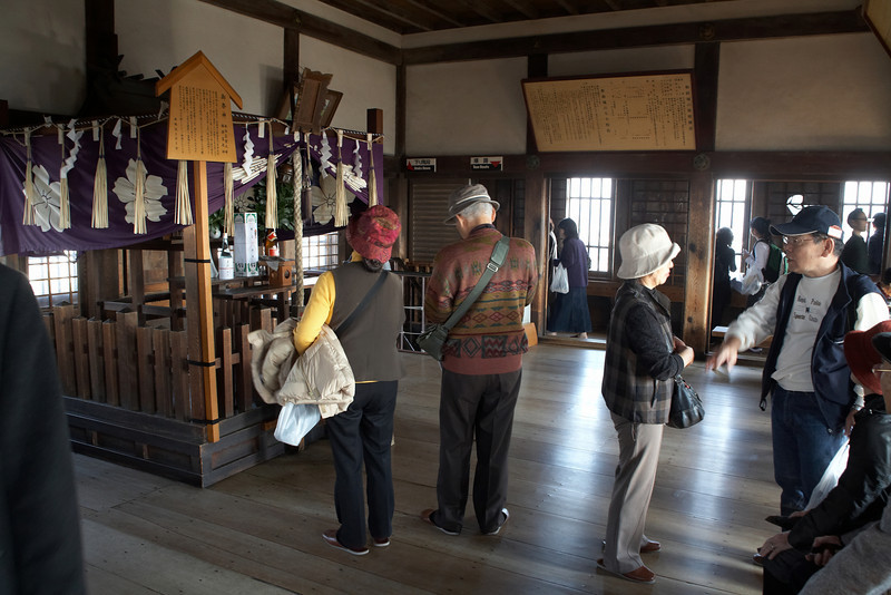 This is the Osakabe Shinto Shrine located on the top floor of the keep. Originally, the shrine was on top of the hill where the castle now stands.