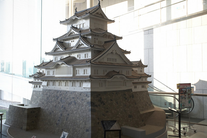 A less ornate model of Himeji Castle.