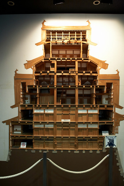 This is a cut away view of Himeji Castle.