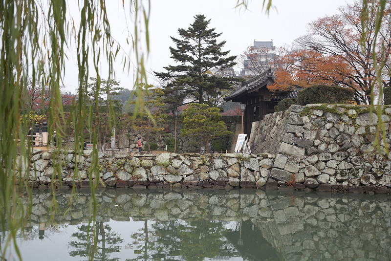 The outer moat of Himeji Castle.