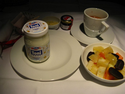 Breakfast somewhere over the Black Sea