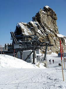 At the top of the Hintertux Ski Area, southern summit of Gefrorene Wand, 3270 m