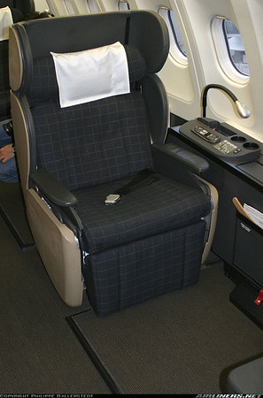First class seat on Swiss