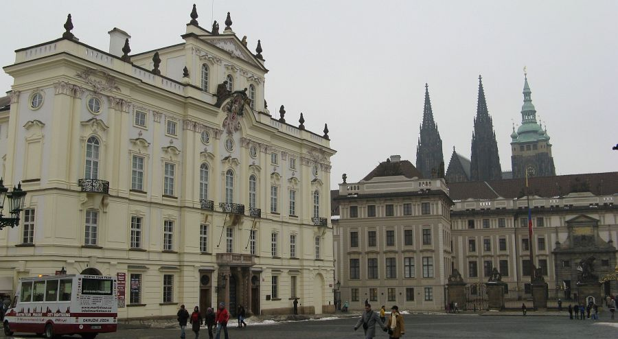 The Archbishop Palace and the entrance into the Prague Castle