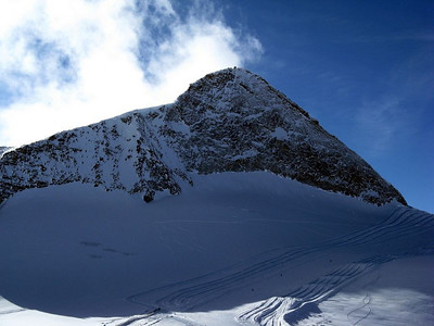 Olperer (3476 m, 11400 ft) - almost as high as the top of the highest ski lift in Santa Fe...
