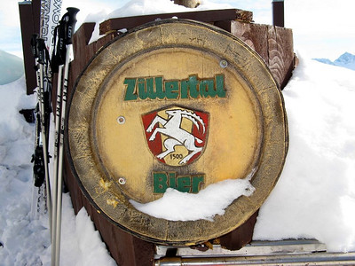A well chilled keg of Zillertaler Bier at Gletscherhütte...