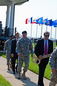 Glen Oder, with the Key in hand, followed by GEN Cone, GOV McDonnell, and COL Reyes