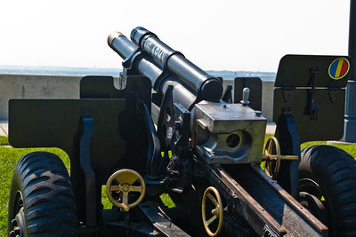 One of the ceremonial howitzers used so often at Fort Monroe in the past to herald special ceremonies and events.