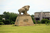 Buffalo statue on the old parade ground at Historic Ft. Hays