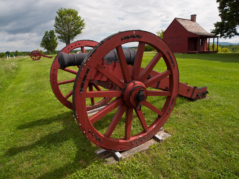 Overpowered by war - the Neilson farm on Bemis heights was subsumed by the Continental Army during the Battle of Saratoga in September - October 1777.