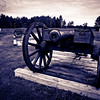 British artillery line at the Balcarres Redoubt.  This was part of their fortified line at the Battle of Saratoga.