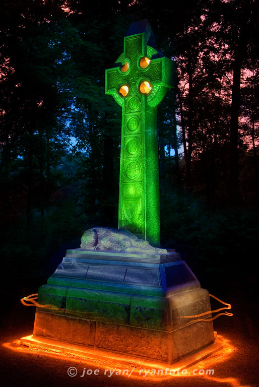 Irish Brigade Monument<br /> (long time exposure with light painting)<br /> Gettysburg, PA