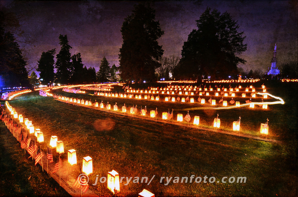 9th Annual Remembrance Illumination<br /> Soldiers' National Cemetery<br /> Gettysburg, PA <br /> November 19, 2011