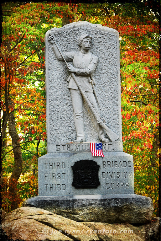 5th Michigan Infantry<br /> Gettysburg, PA