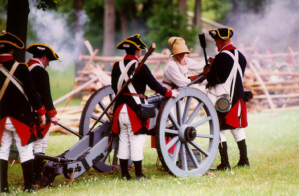 """""""Molly Pitcher"""" at the Monmouth Battle reenactment, NJ."""