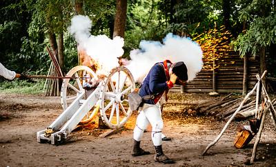 Fire! Cannon demonstration, Colonial Williamsburg, VA.