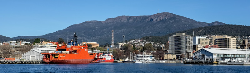 Mt Wellington as seen from the harbour, Hobart