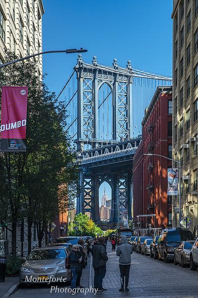 Dumbo Brooklyn under the Manhatten bridge