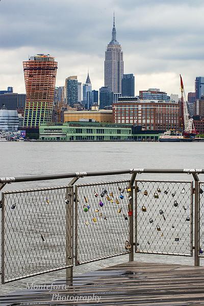 Love locks Sinatra Drive Empire State building