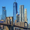 Brooklyn bridge WTC and downtown NYC