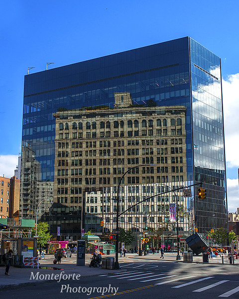 Reflection in Glass building Manhattan