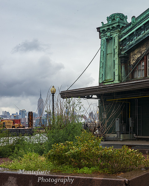Erie Lackawanna Building in Hoboken with Empire State building in background