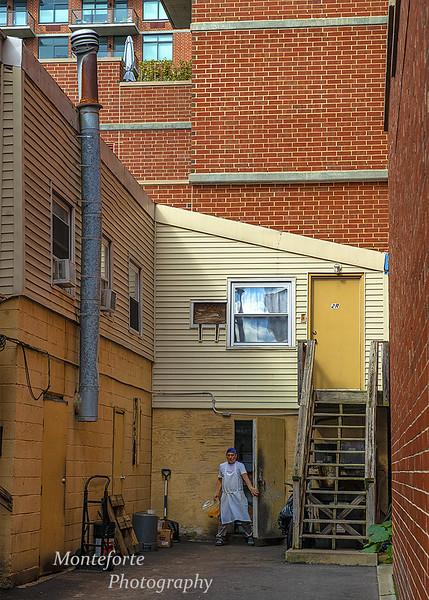 Behind restaurant in Hoboken