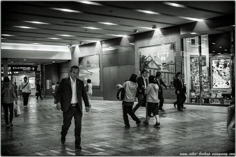 Sapporo train station - why so serious?