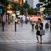 asahikawa Kaimono Koen - rushing home in the rain