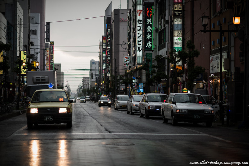 Asahikawa Kaimono Koen - dark and forebodding streets
