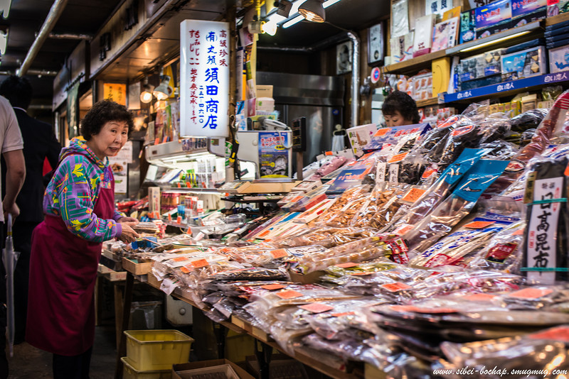 Another obasan at the Sapporo Nijo Market