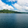 pano view from our cruise ship