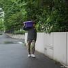 Sapporo man going to work