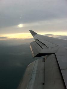 去到日本上空了