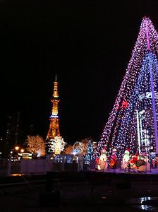 大通公園的燈飾