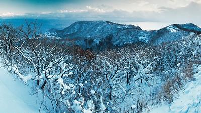 South view, Mt Hadodate