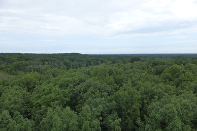 The view from the top of Emergent Tower. You should be able to see Lake Erie from up top.