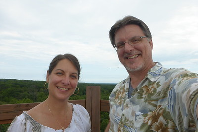 Us at the top of Emergent Tower.