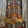 Pipes of the Christian Muller organ in the Great Church of St. Bavo.<br /> Haarlem, the Netherlands.