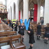 Antwerp Belgium - Cathedral of our Lady - Local children practicing for communion