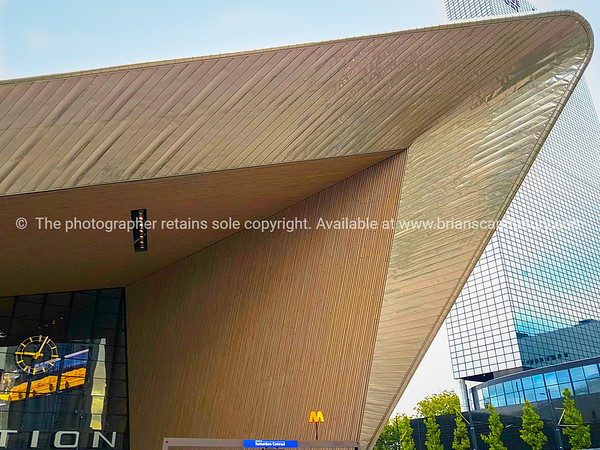 Angular archtiectural  roof lines of Central Railway Station