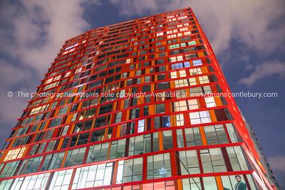 Red Calypso skyscraper apartment building
