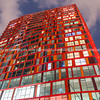 Red Calypso skyscraper apartment building