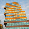 Unique contemporary architectural office building in city/