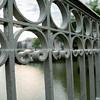 Wrought iron barricade detail