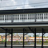 Old style elevated railway station along route of electric train service