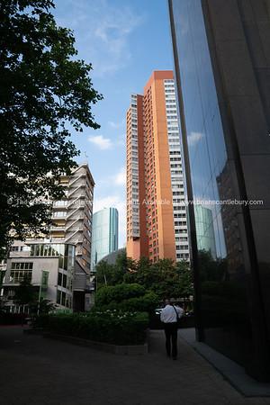 Modern high-rise buildings tower